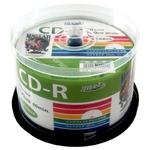 デ‐タ用CD-Rメディア52倍速 レーベル ワイドタイプ プリンタブル白50枚スピンドル 【6個セット】 HDCR80GP50-6P