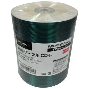 磁気研究所 TYコードシリーズ HIDISC CD-Rデータ用48倍速 700MB 銀盤ノンプリンタブルシュリンクパック100枚 TYCR80YS100B-6P【6個セット】 - 拡大画像