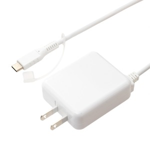 ミヨシ ロングケーブル一体型 USB Type-C対応 充電用ACアダプタ ホワイト IPA-CC35/WH