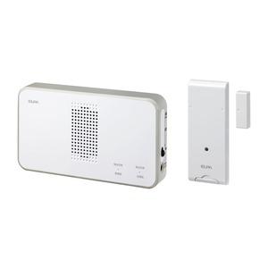 ELPA ワイヤレスチャイム 受信器+ドアセンサー送信器セット EWS-S5034 - 拡大画像