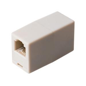 ミヨシ 6極4芯対応電話機コード延長アダプタ ホワイト5個セット DA-40/WH-5P - 拡大画像
