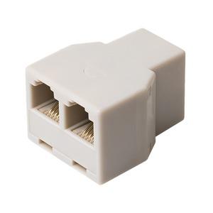 ミヨシ 6極4芯対応電話機コード分配アダプタ ホワイト5個セット DA-41/WH-5P