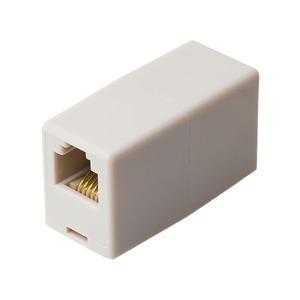 ミヨシ 6極6芯対応電話機コード延長アダプタ ホワイト5個セット DA-60/WH-5P