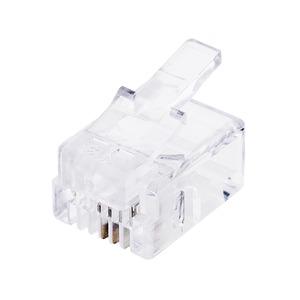 ミヨシ 6極2芯の電話機コードを加工するためのプラグ10個入り×5=50個 DA-602P-5P - 拡大画像