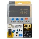 ミヨシ(MCO) HDMIセレクタ 4K対応 リモコン付属 HDS-4K04