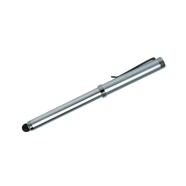 ミヨシ(MCO) 高耐久タッチペン ノック式タイプ2本セット STP-15/SL-2P シルバー