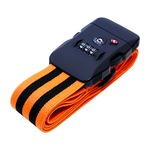 ジャストフィットスーツケースベルト ブラックオレンジ MBZ-SBL02/BO