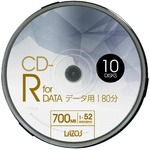 LAZOS CD-Rメディア 52倍速 10枚スピンドル40個セット L-CD10P-40P