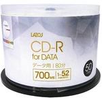 LAZOS CD-Rメディア52倍速50枚スピンドル L-CD50P