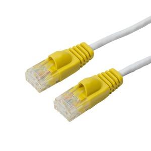 CAT6スルリムLANケーブル 0.5M ホワイト TWT-H65WH - 拡大画像