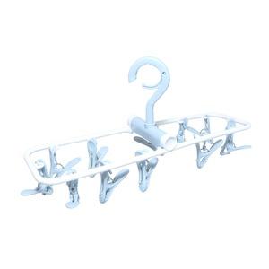 折りたためる洗濯ピンチハンガー1個 グレー MBZ-HG06/GY ミヨシ MCO - 拡大画像