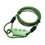 ミヨシ(MCO) セキュリティワイヤーロック 3ダイヤル グリーン MBZ-WL01/GN