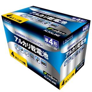 【12個セット】Lazos 単4アルカリ乾電池(4本入) LA-T4X4-12P - 拡大画像