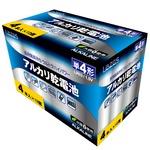 【12個セット】Lazos 単4アルカリ乾電池(4本入) LA-T4X4-12P