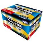 【12個セット】Lazos 単3アルカリ乾電池(4本入) LA-T3X4-12P