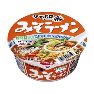 サンヨー食品 サッポロ一番 みそラーメン どんぶり 81g 36個セット - 拡大画像