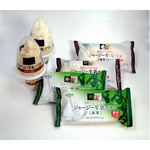 希少なジャージー牛乳使用のアイス【ソフト各種2個+モナカ各種3個セット】 - 拡大画像