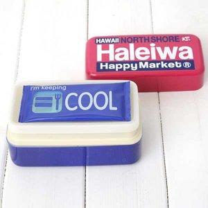 HALEIWA(ハレイワ) 保冷剤付2段ランチBOX ピンク - 拡大画像