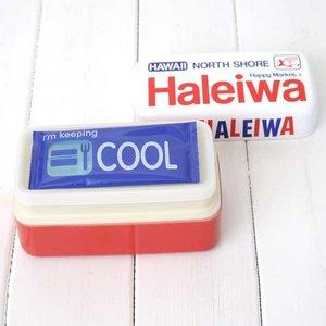 HALEIWA(ハレイワ) 保冷剤付2段ランチBOX ホワイト - 拡大画像
