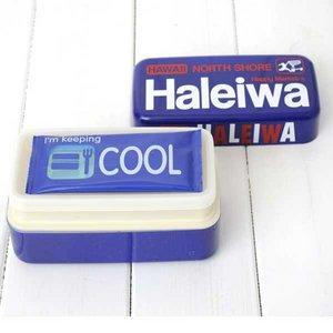 HALEIWA(ハレイワ) 保冷剤付2段ランチBOX ブルー - 拡大画像