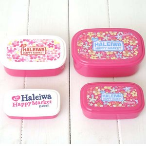 HALEIWA(ハレイワ) 4P容器セット【ドット・フラワー各1個セット】 - 拡大画像