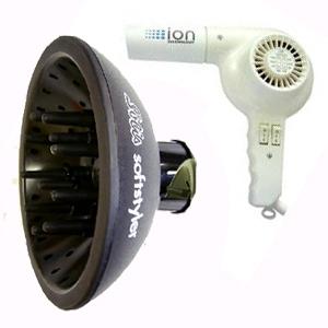 Solis(ソリス) ハンドドライヤー イオンテクノロジー 315(ホワイト) × ソフトスタイラーS(ブラック) セット 【業務用】 - 拡大画像