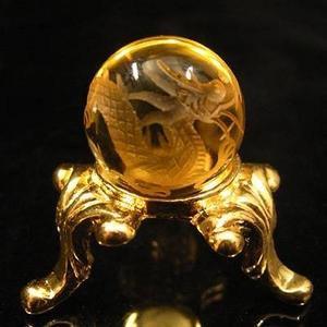 手彫り黄水晶ドラゴンボール 手彫り黄水晶ドラゴンボール  - 拡大画像