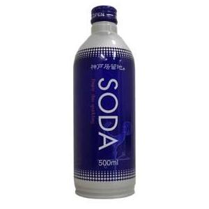 神戸居留地 業務用炭酸水 SODA ボトル 500ml 24本入り 6ケースセット - 拡大画像