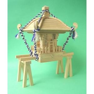 組木 お神輿組み立てキット - 拡大画像