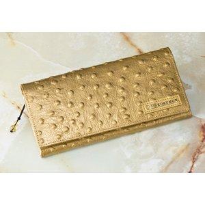 黒門風水式 幸せの風水財布(オースト型押し) - 拡大画像