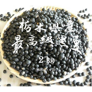 健康維持・ダイエットにも! 栃木県産黒豆 超お得な 500g×4袋セット - 拡大画像