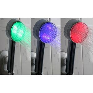 LED シャワーヘッド (本体の色 シルバー) - 拡大画像
