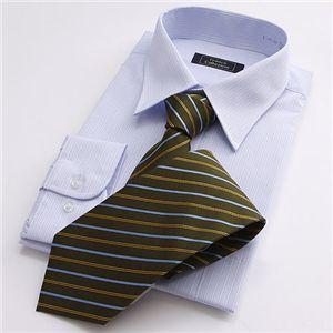 カラー系ワイシャツ&ネクタイ14点セット 3Lサイズ - 拡大画像