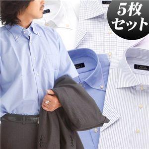 ドゥエボットーニワイシャツ(セミワイド・ボタンダウン)半袖5枚セット Lサイズ - 拡大画像