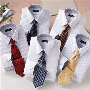 ワイシャツ&ネクタイ 10点セット Mサイズ - 拡大画像