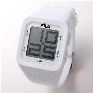 FILA(フィラ) 360゜SENSOR デジタルウォッチ FCD001-103 ホワイト - 拡大画像