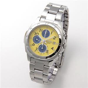 SEIKO(セイコー) 腕時計 クロノグラフ SND409 イエロー - 拡大画像