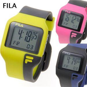 FILA(フィラ) タッチライト ツートン デジタルウォッチ ピンク×ブラック - 拡大画像