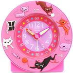 Baby Watch Paris 【ベビーウォッチ】 園児・小学生向け子供用目覚まし時計 ネコ AC015 ピンク