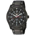 腕時計 SEIKO 5 SPORTS(セイコー ファイブ スポーツ) オートマチック デイデイト 逆輸入 海外モデル 日本製 ブラック×ブラック SNZG17JC