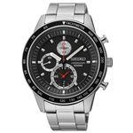 腕時計 SEIKO(セイコー) クロノグラフ デイト 逆輸入 海外モデル ブラック×シルバー SNDD85PC