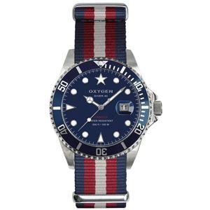 OXYGEN(オキシゲン) 腕時計 Diver 40(ダイバー 40) Atlantic(アトランティック) ブルー - 拡大画像