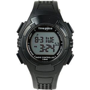 Time Piece(タイムピース) 腕時計 電波時計 ソーラー(デュアルパワー) デジタル ブラック TPW-002BK - 拡大画像