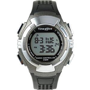 Time Piece(タイムピース) 腕時計 電波時計 ソーラー(デュアルパワー) デジタル ガンメタ TPW-002GM - 拡大画像