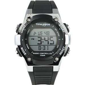 Time Piece(タイムピース) 腕時計 電波時計 デジタル ブラック TPW-003BK - 拡大画像