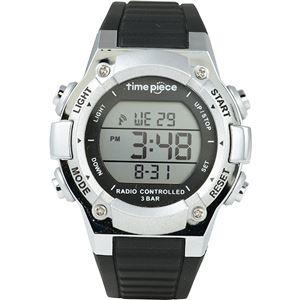 Time Piece(タイムピース) 腕時計 電波時計 デジタル シルバー TPW-003SV - 拡大画像