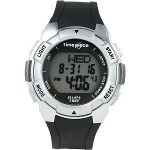 Time Piece(タイムピース) 腕時計 ランニングウォッチ 20LAP デジタル シルバー TPW-004SV - 拡大画像