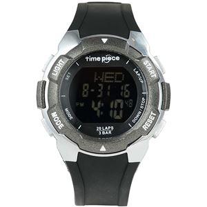 Time Piece(タイムピース) 腕時計 ランニングウォッチ 20LAP デジタル ブラック/ブラック TPW-004BB