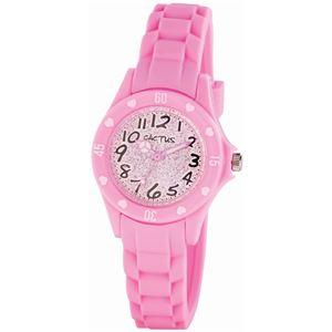 CACTUS (カクタス) キッズ腕時計 ハート ラメ ピンク CAC-91-L05 - 拡大画像