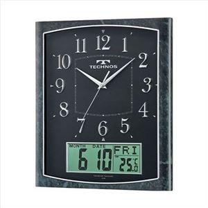 TECHNOS(テクノス) 掛時計 カレンダー W-684 SFB ブラック
